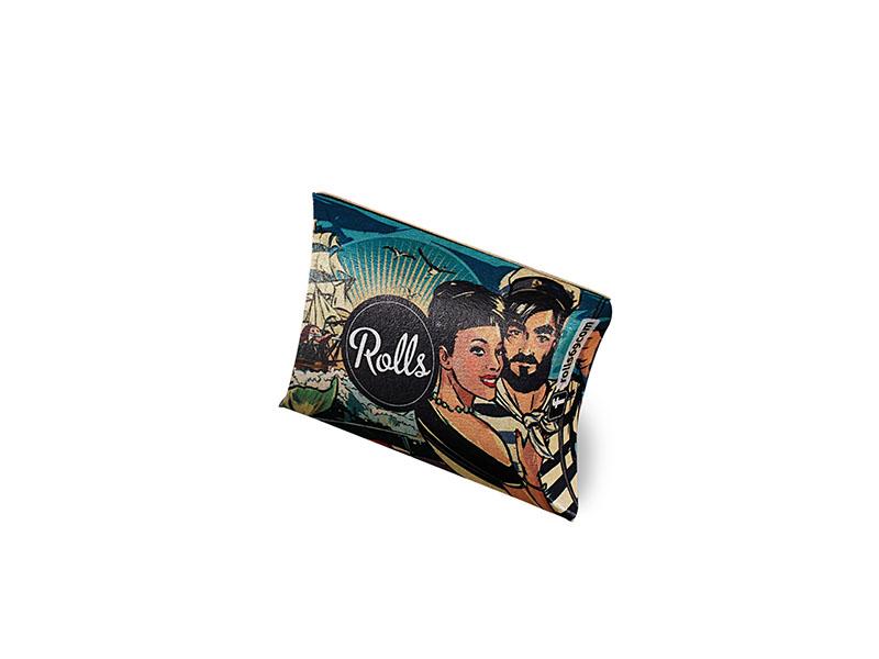 Das Rolls Filter Pocket Pack im Hosentaschenformat, im blauen Design