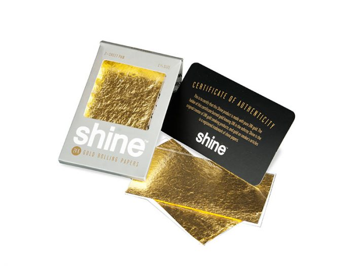Shine Gold Papers - 2 sheets pack