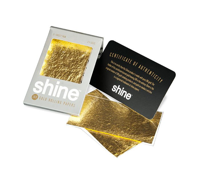 Die exklusiven Shine Gold Papes im Pack mit zwei Papes.