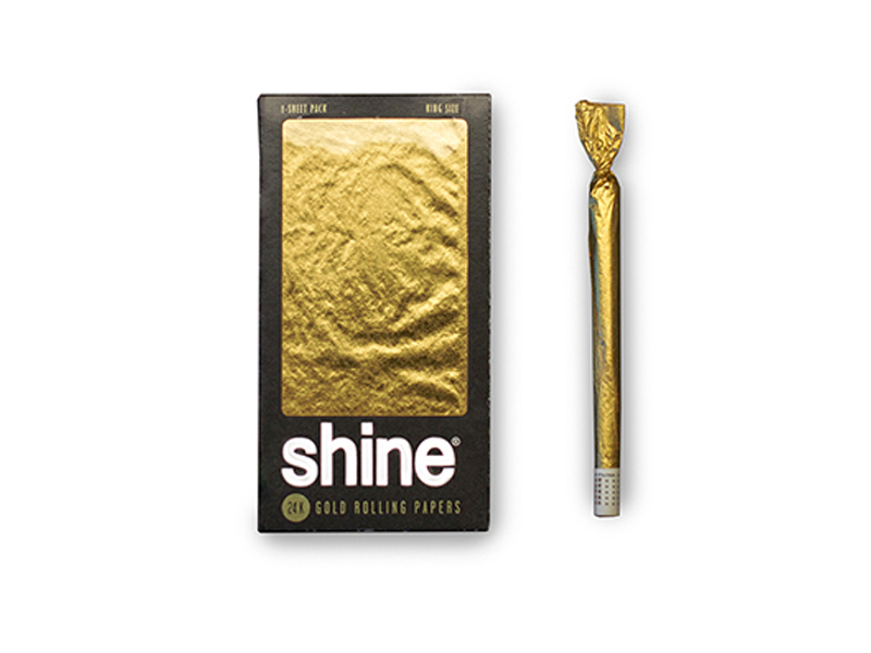 Bestelle jetzt die Shine Gold Papers im King Size-Format