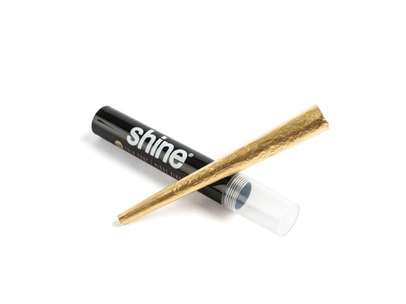 Das vorgerollte Shine Gold Paper für deine Kräutermischung.